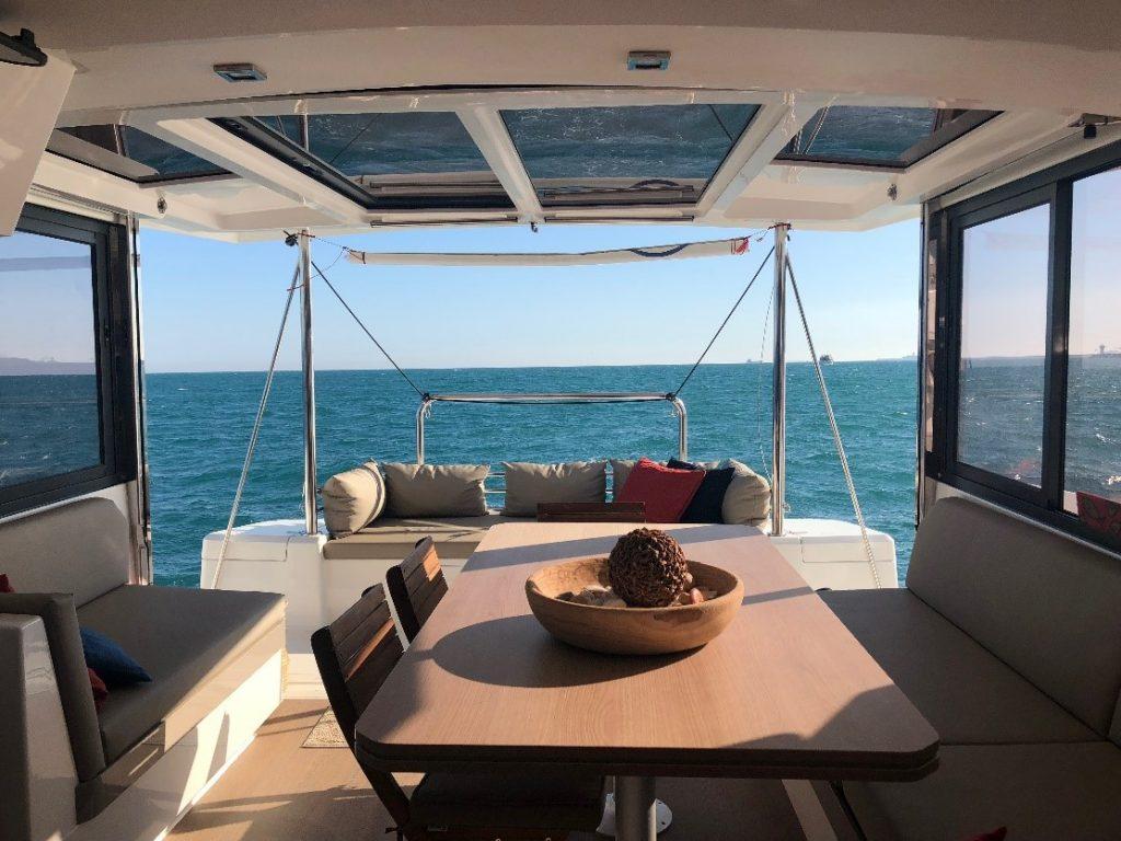 Inside the luxury catamaran